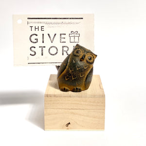 Traditionally Crafted Japanese Twin Owl Memo Holder Magnet - The Give Store