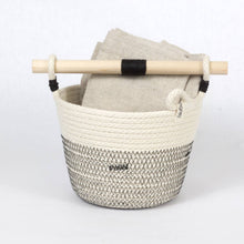Woven Basket With Wooden Handle