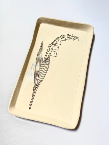 Tray with Lily of the Valley - The Give Store