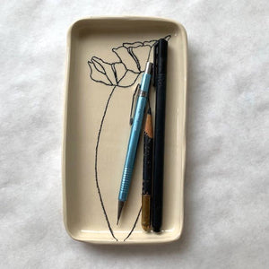 Small Tray with Poppies - The Give Store