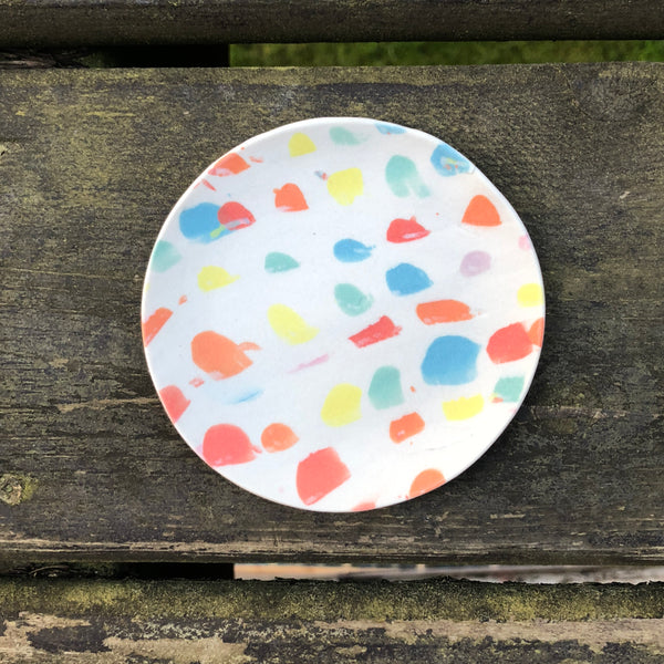 Jewelbug + Forest Ceramic Co. White & Rainbow Soap Dish
