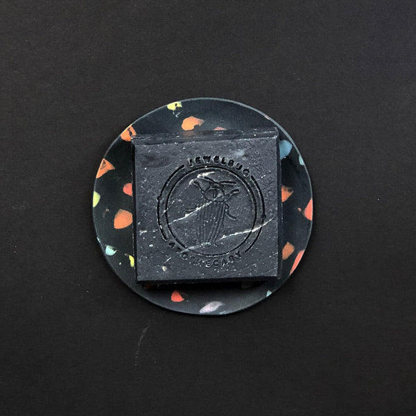 Jewelbug + Forest Ceramic Co. Black & Rainbow Soap Dish