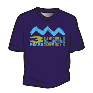 Dark Purple 3 Peaks Design 2 T-Shirt