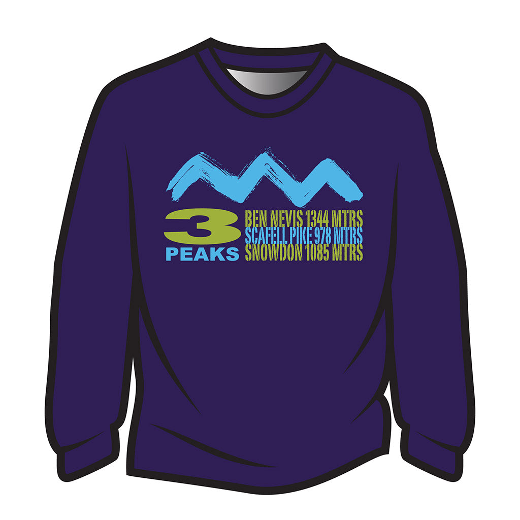 Dark Purple 3 Peaks Design 2 Sweatshirt