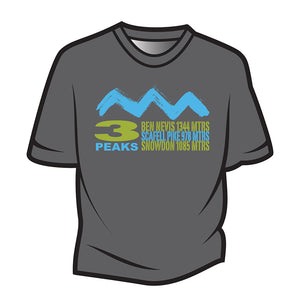Dark Grey 3 Peaks Design 2 T-Shirt