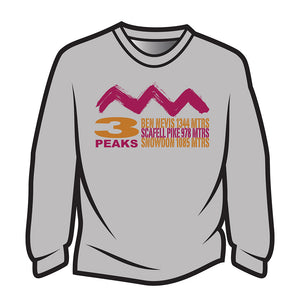 Light Grey 3 Peaks Design 2 Sweatshirt