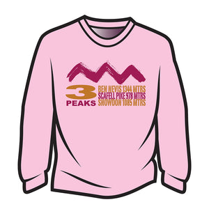 Pink 3 Peaks Design 2 Long Sleeve T-Shirt