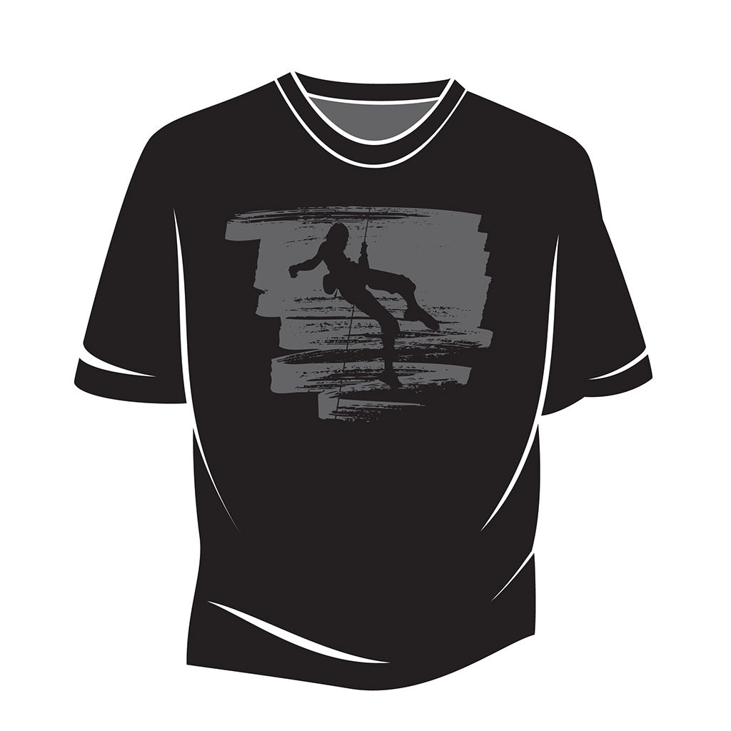 Black Climber Design 1 T-Shirt