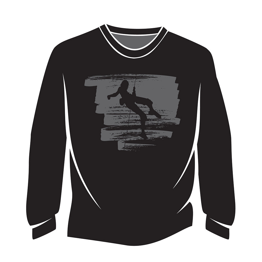 Black Climber Design 1 Long Sleeve T-Shirt