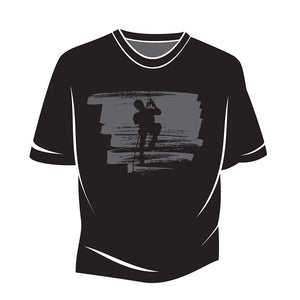 Black Climber Design 2 T-Shirt