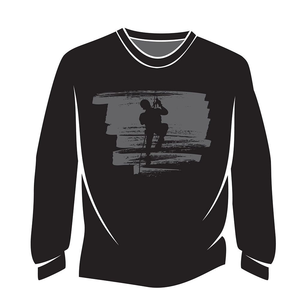 Black Climber Design 2 Long Sleeve T-Shirt