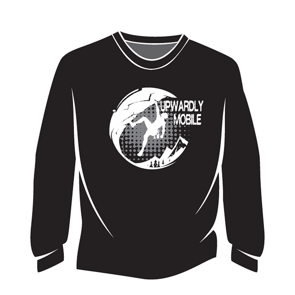 Black Upwardly Mobile Long Sleeve T-Shirt