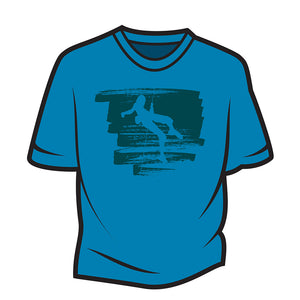 Blue Climber Design 1 T-Shirt
