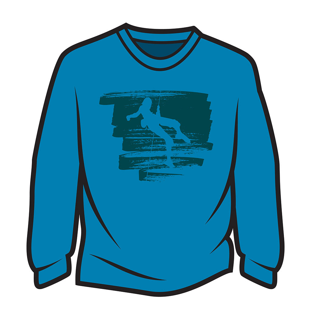 Blue Climber Design 1 Long Sleeve T-Shirt