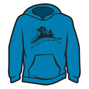 Blue May your dog go with you (him) Hoodie