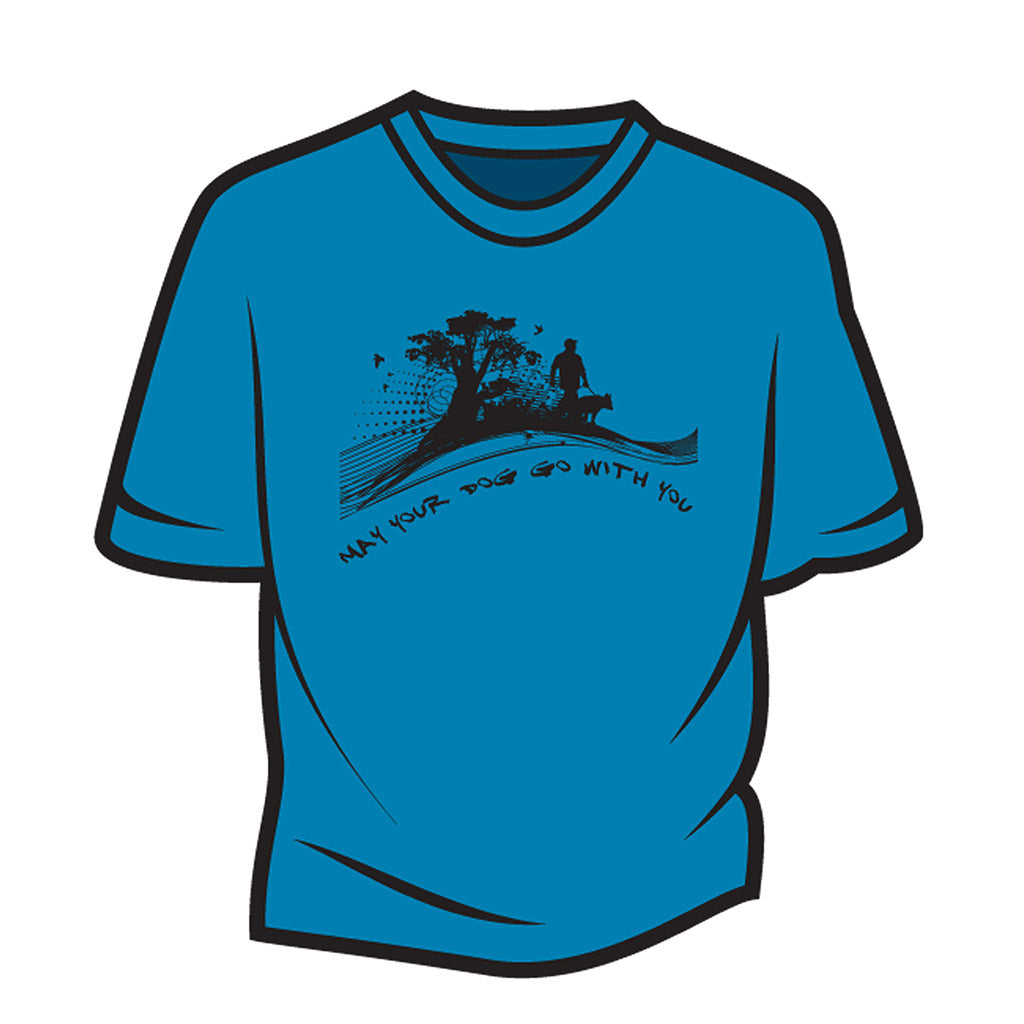 Blue May your dog go with you (him) T-Shirt