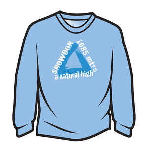 Blue Snowdon Long Sleeve T-Shirt