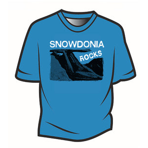 Blue Snowdonia Rocks T-Shirt