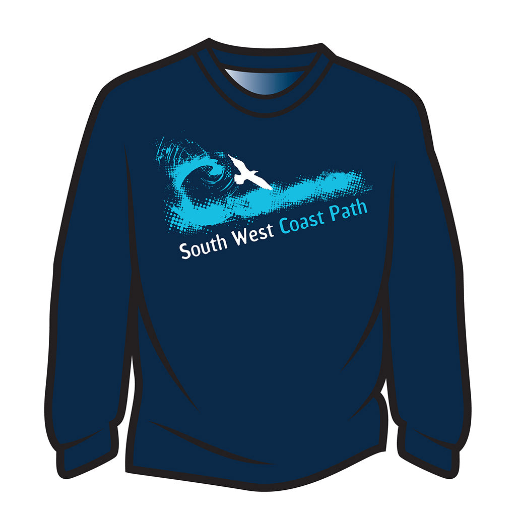 Dark Blue South West Coast Path Long Sleeve T-Shirt