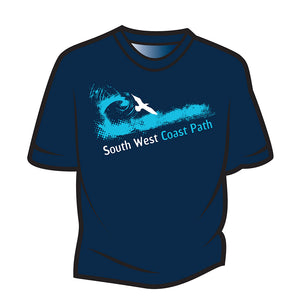 Dark Blue South West Coast Path T-Shirt