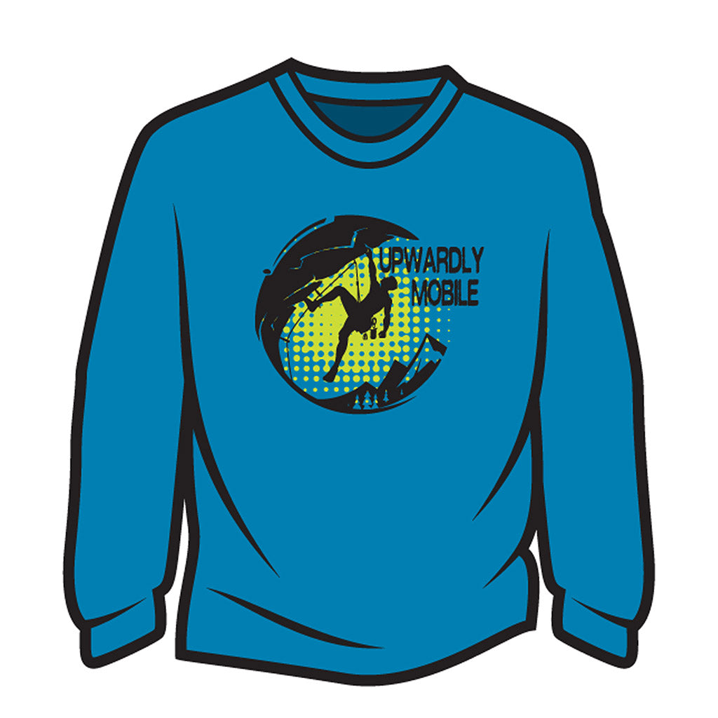 Blue Upwardly Mobile Long Sleeve T-Shirt