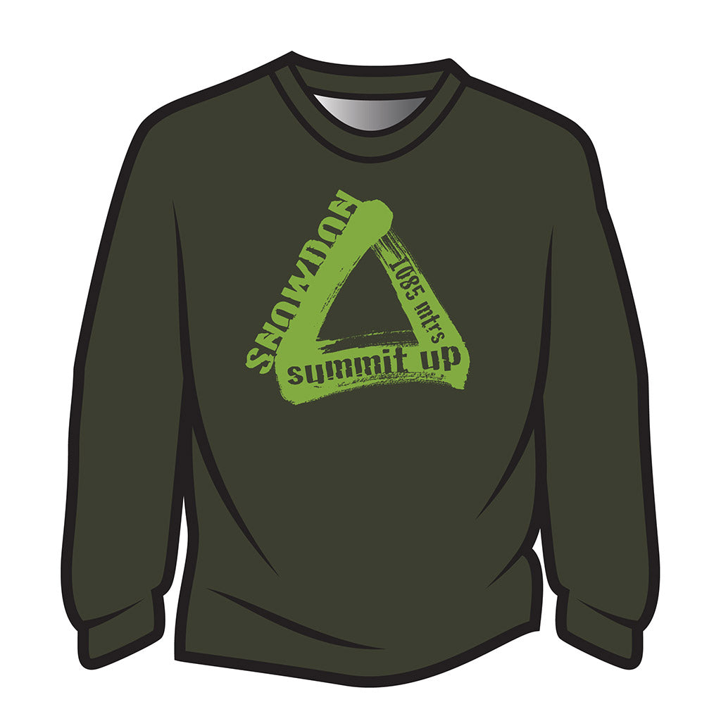 Dark Green Snowdon Long Sleeve T-Shirt