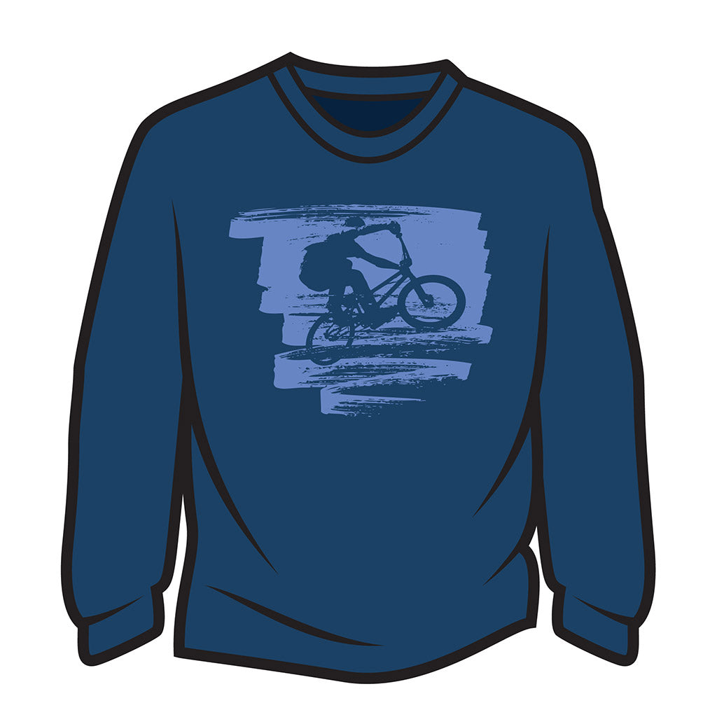 Dark Blue Bike Jump Sweatshirt