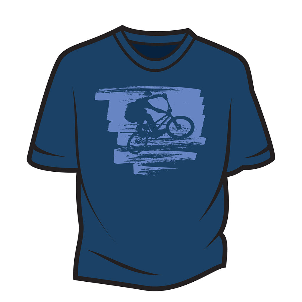 Dark Blue Bike Jump T-Shirt