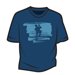 Dark Blue Climber Design 2 T-Shirt