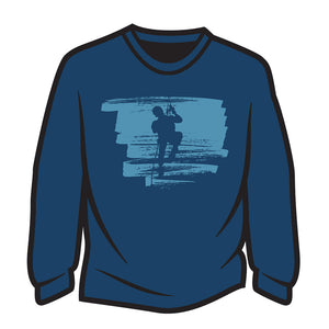 Dark Blue Climber Design 2 Long Sleeve T-Shirt