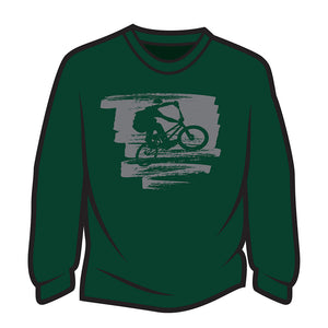 Dark Green Bike Jump Long Sleeve T-Shirt