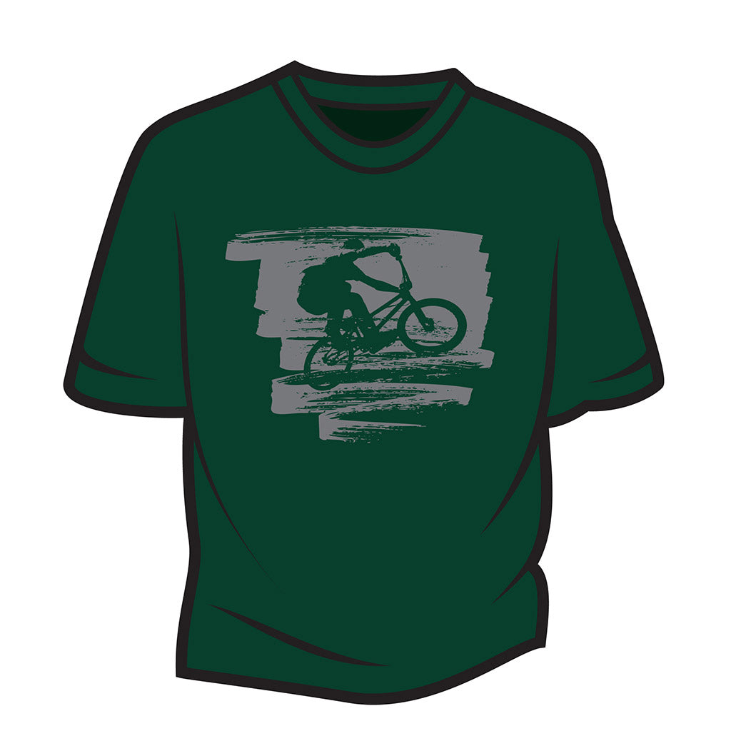 Dark Green Bike Jump T-Shirt