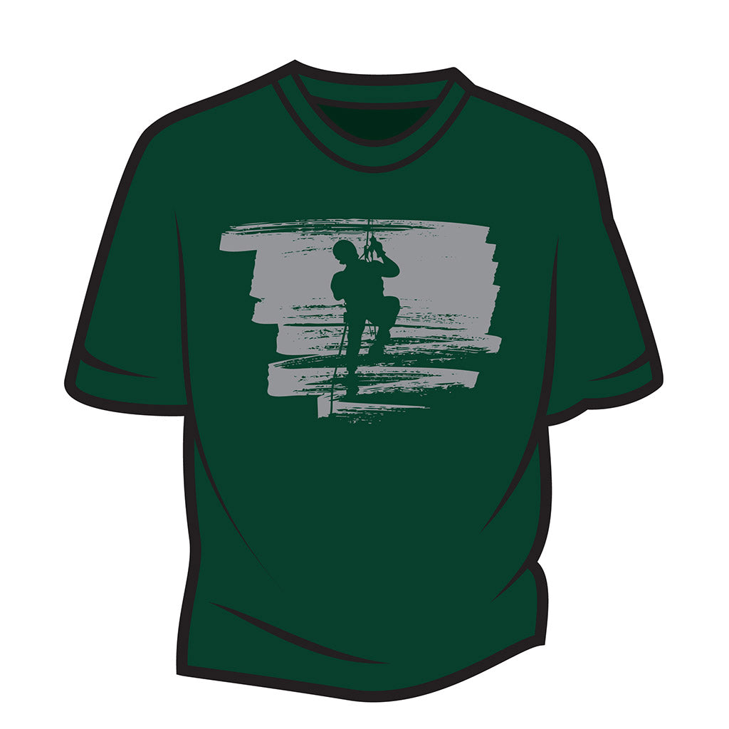 Dark Green Climber Design 2 T-Shirt