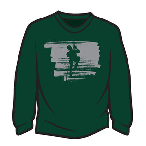 Dark Green Climber Design 2 Long Sleeve T-Shirt