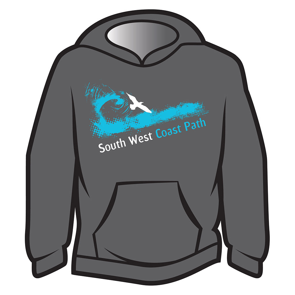 Dark Grey South West Coast Path Hoodie