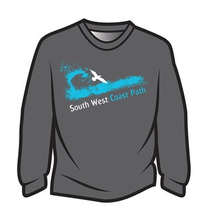 Dark Grey South West Coast Path Long Sleeve T-Shirt