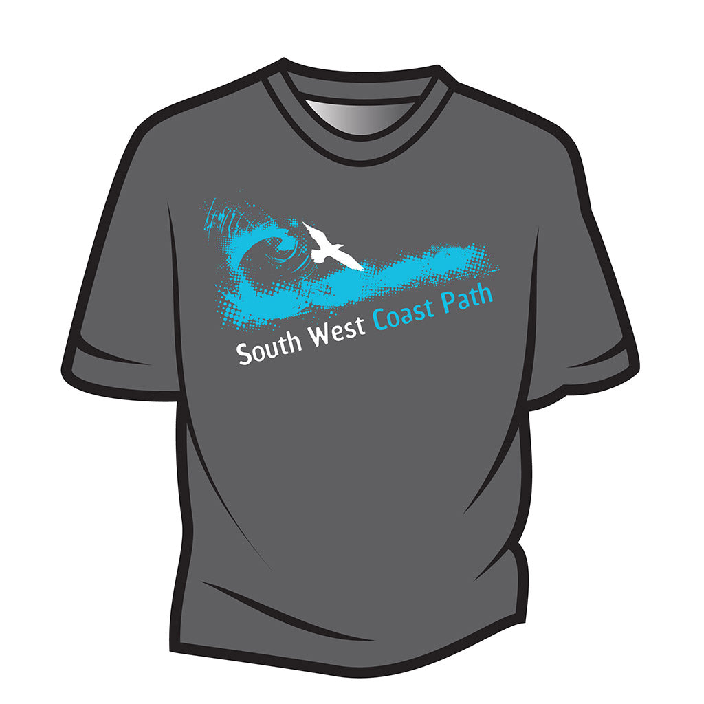 Dark Grey South West Coast Path T-Shirt