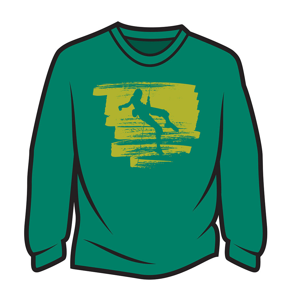 Green Climber Design 1 Long Sleeve T-Shirt