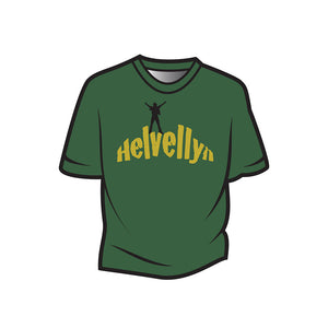 Dark Green Helvellyn Kids T-Shirt