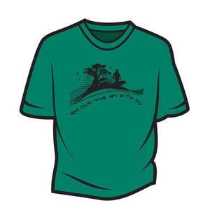 Green May your dog go with you (him) T-Shirt