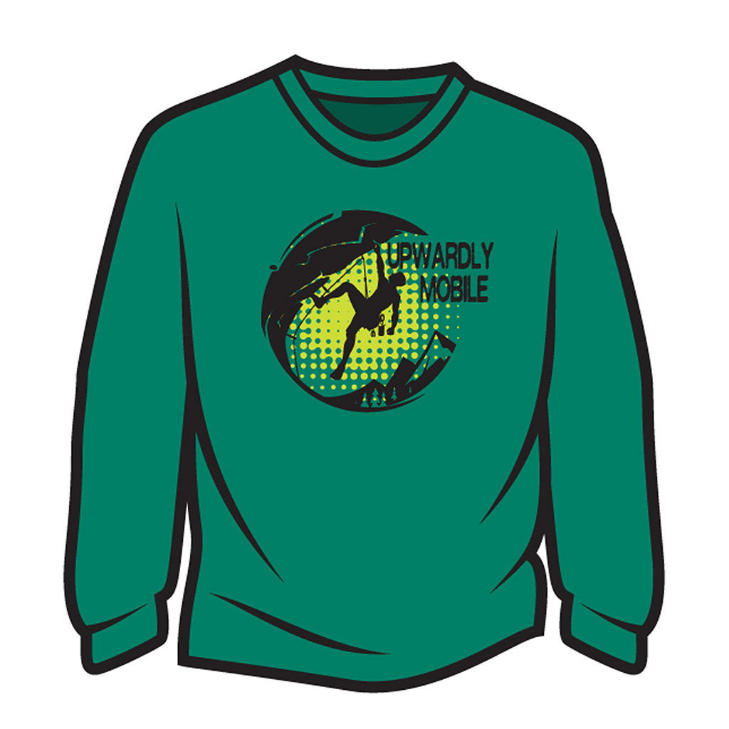 Green Upwardly Mobile Long Sleeve T-Shirt