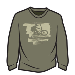 Khaki Bike Jump Long Sleeve T-Shirt