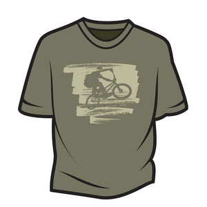Khaki Bike Jump T-Shirt