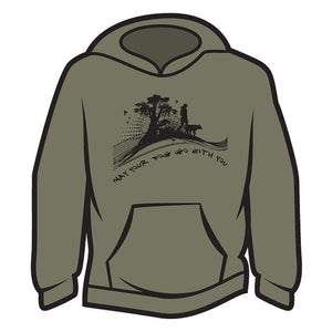 Khaki May your dog go with you (her) Hoodie