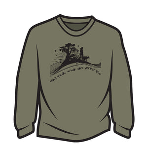 Khaki May your dog go with you (her) Long Sleeve T-Shirt