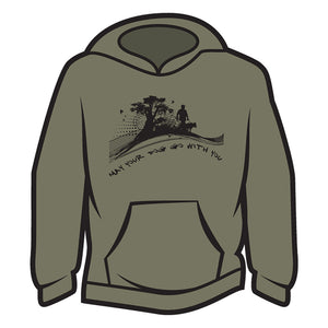 Khaki May your dog go with you (him) Hoodie