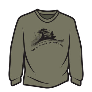 Khaki May your dog go with you (him) Long Sleeve T-Shirt