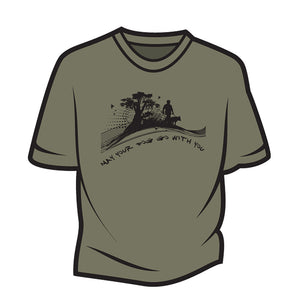 Khaki May your dog go with you (him) T-Shirt