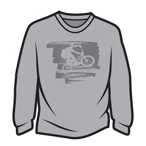 Light Grey Bike Jump Long Sleeve T-Shirt