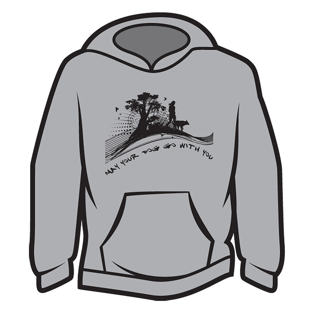 Light Grey May your dog go with you (her) Hoodie